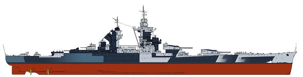<i>Richelieu</i> 1943 (Navypedia)
