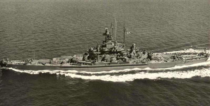 <i>South Dakota </i>off Puget Sound 21.8.1944